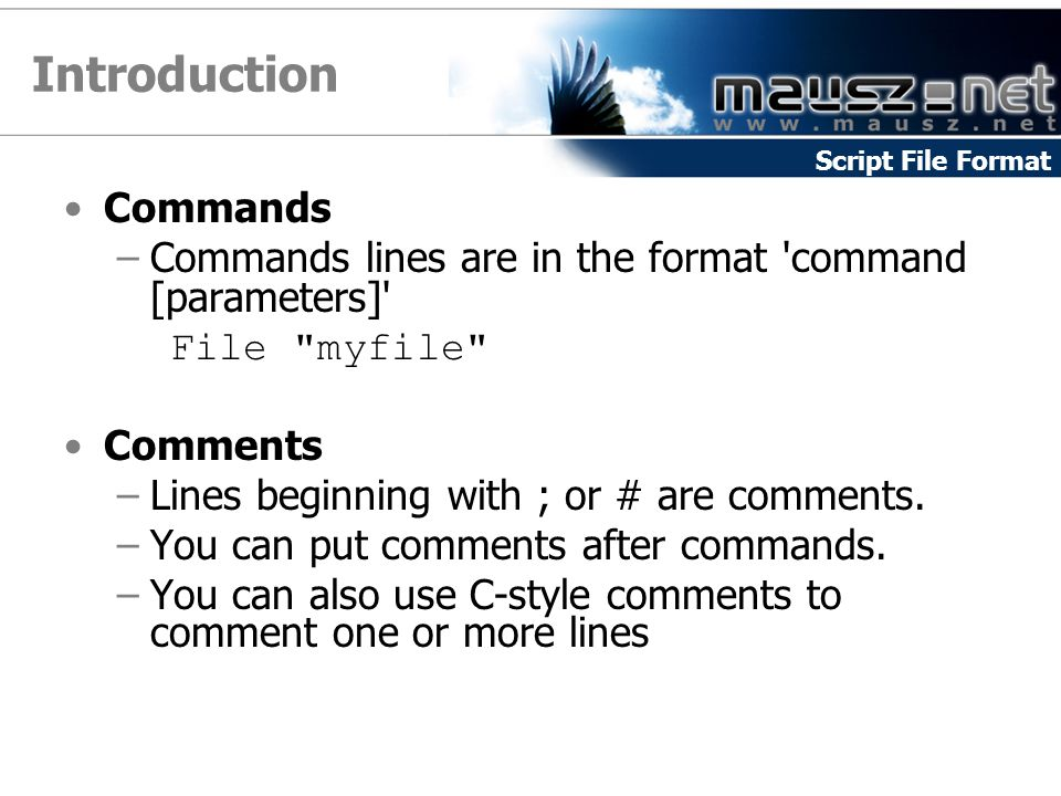 Introduction Commands