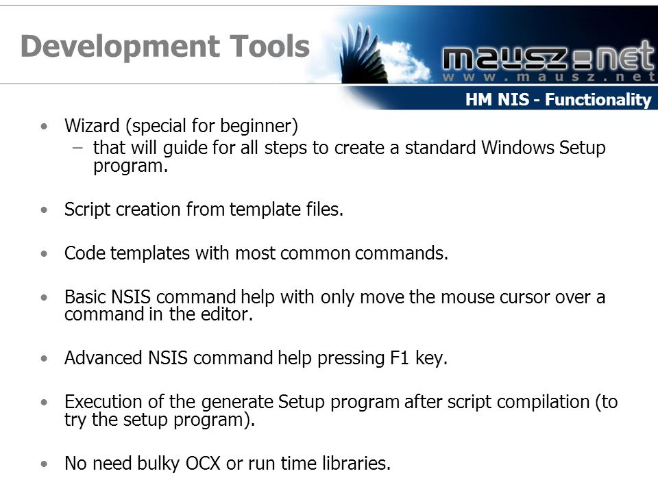 Development Tools Wizard (special for beginner)
