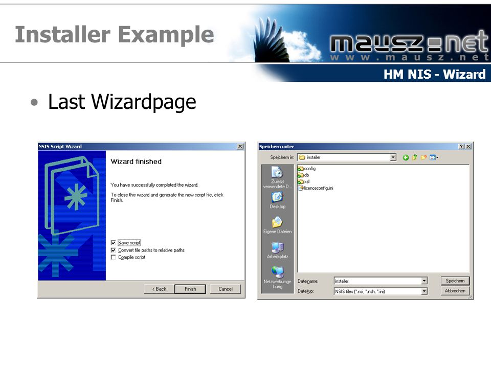 Installer Example HM NIS - Wizard Last Wizardpage