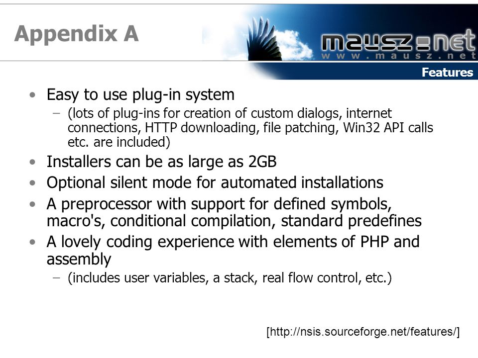 Appendix A Easy to use plug-in system