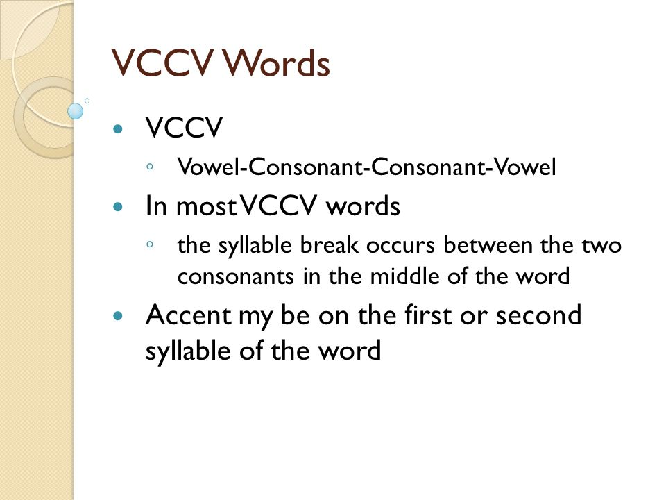 Spelling Words Lesson 22 VCCV Words. - ppt download
