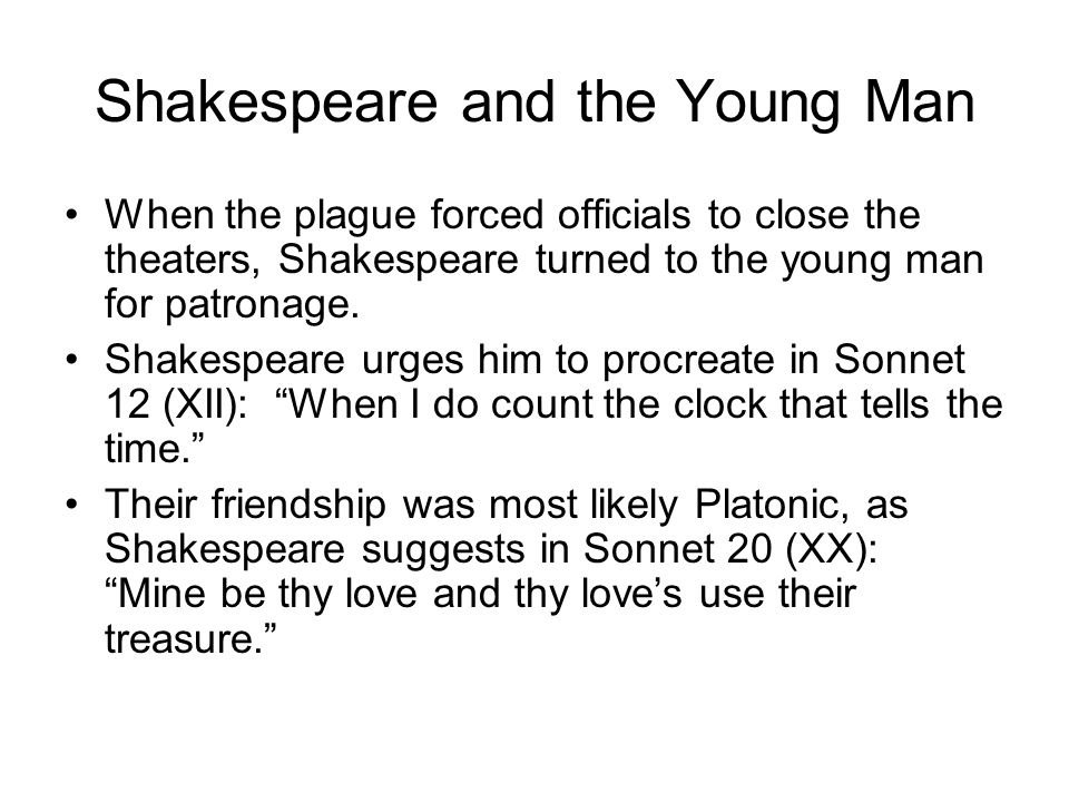 Shakespeare and the Young Man