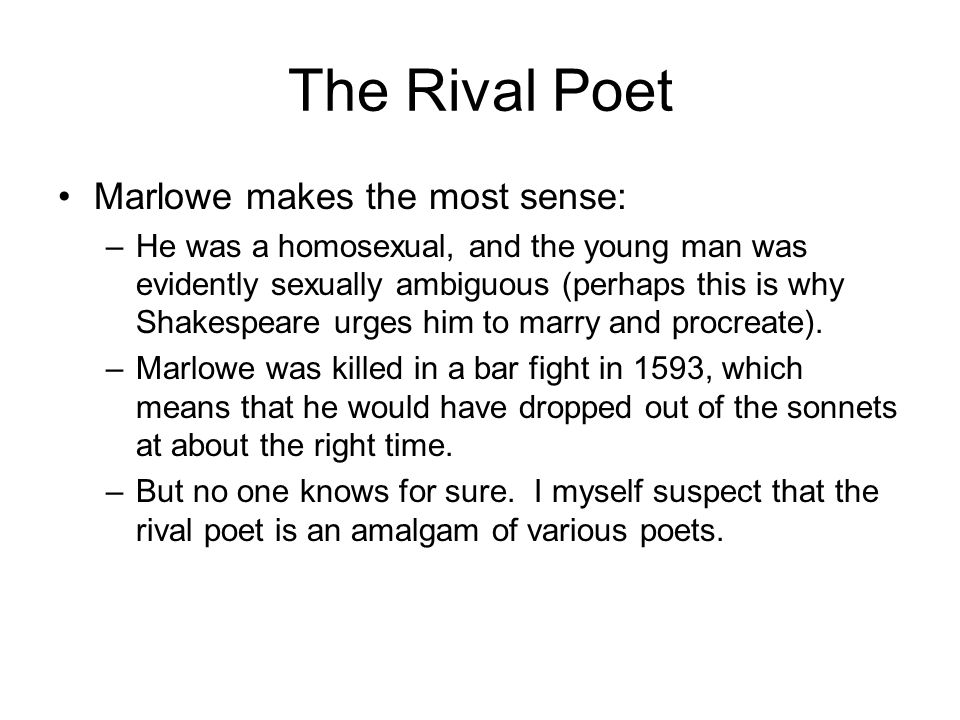 The Rival Poet Marlowe makes the most sense: