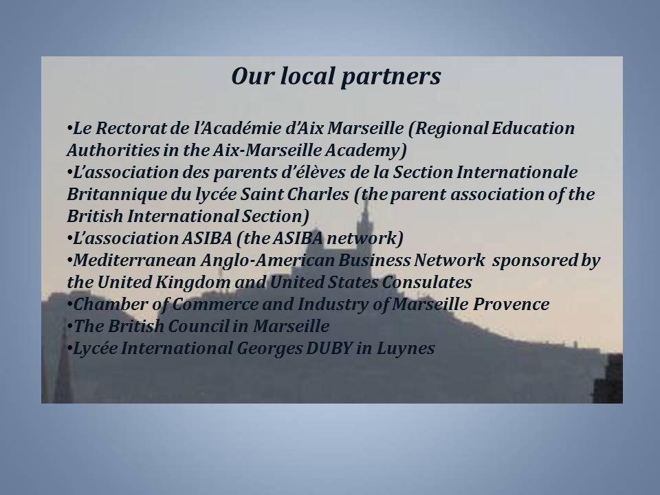 Our local partners Le Rectorat de l'Académie d'Aix Marseille (Regional Education Authorities in the Aix-Marseille Academy)