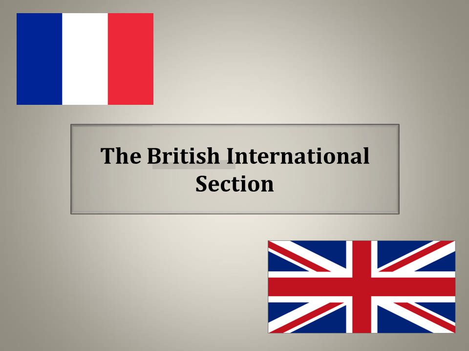 The British International Section