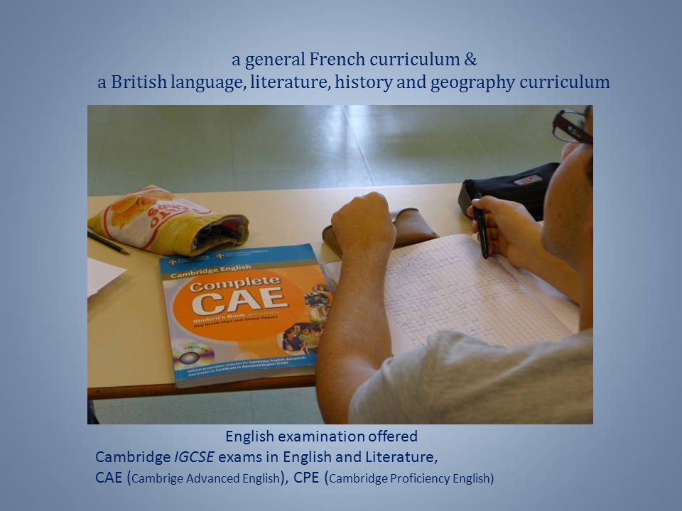 English examination offered