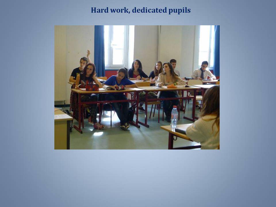 Hard work, dedicated pupils
