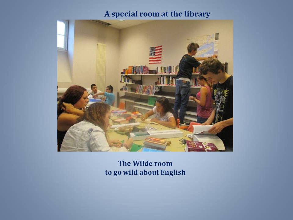 A special room at the library to go wild about English