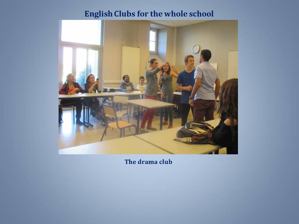 English Clubs for the whole school