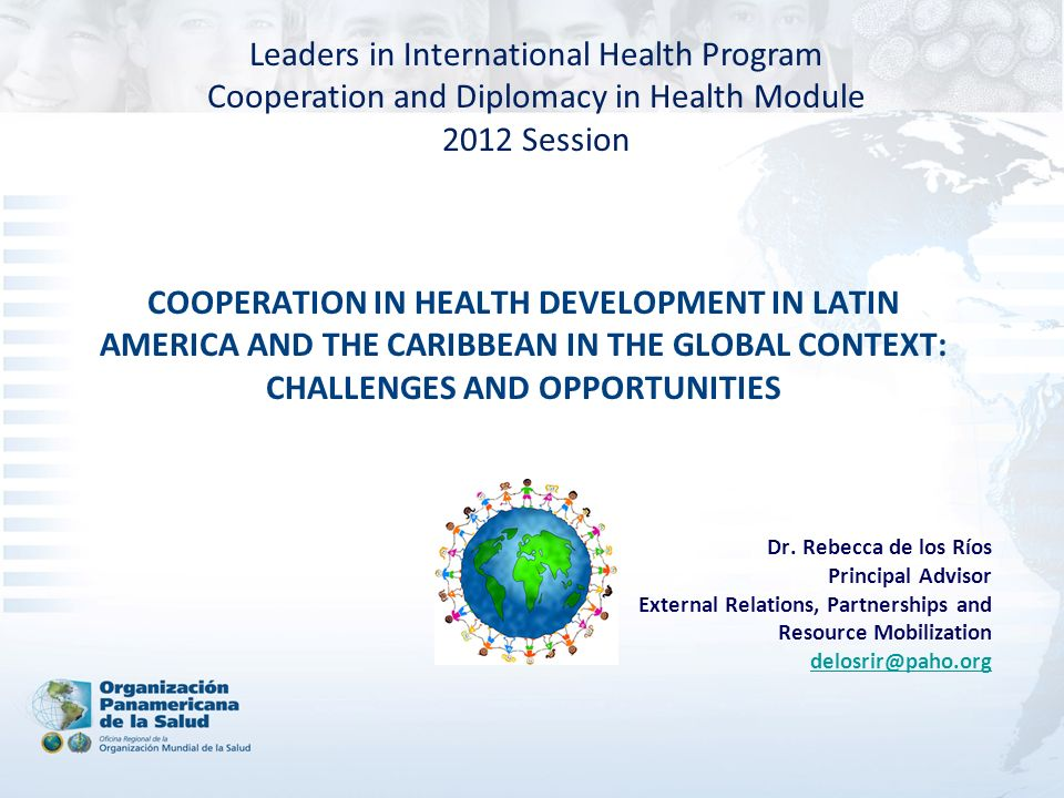 Leaders in International Health Program