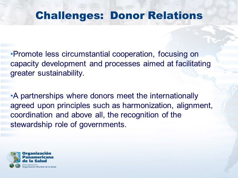 Challenges: Donor Relations