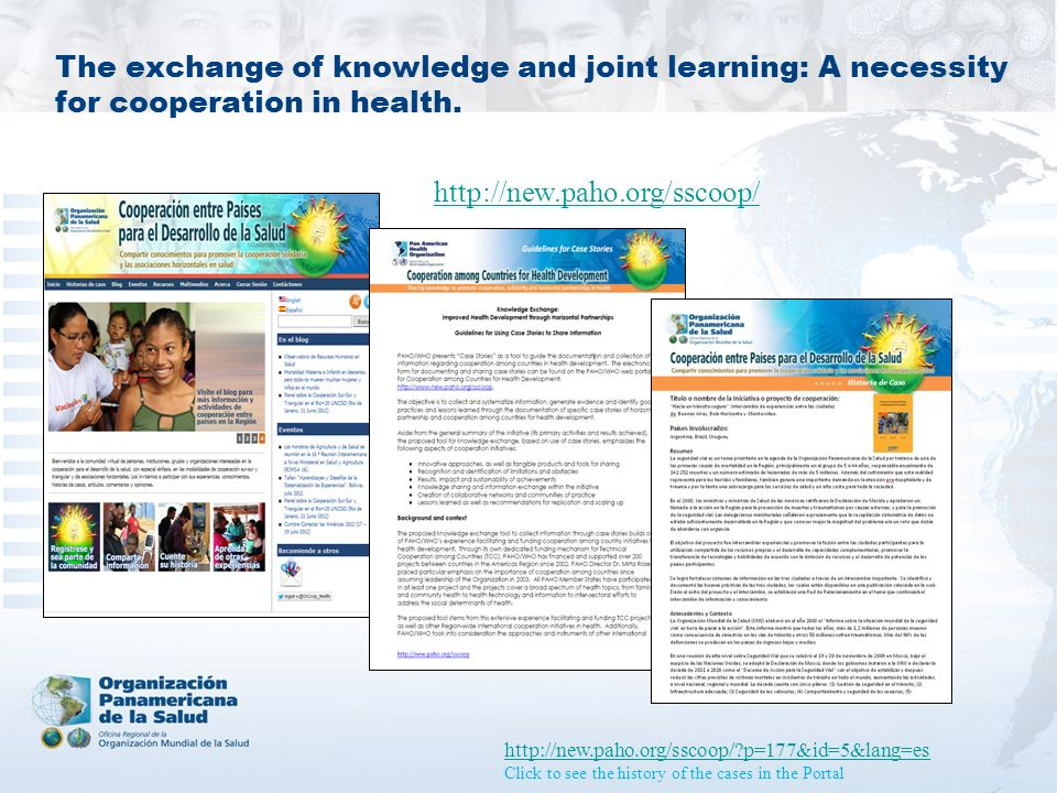 The exchange of knowledge and joint learning: A necessity for cooperation in health.
