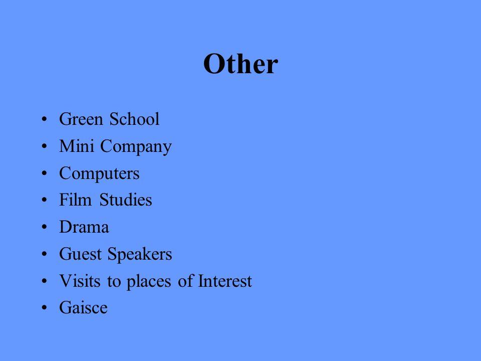 Other Green School Mini Company Computers Film Studies Drama