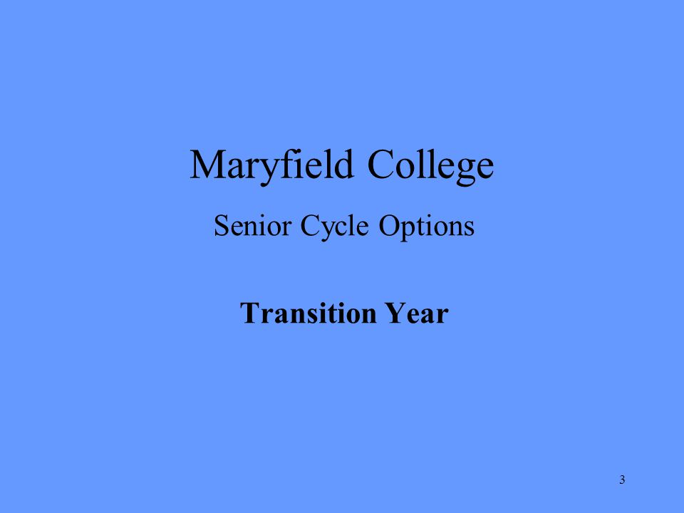 Senior Cycle Options Transition Year