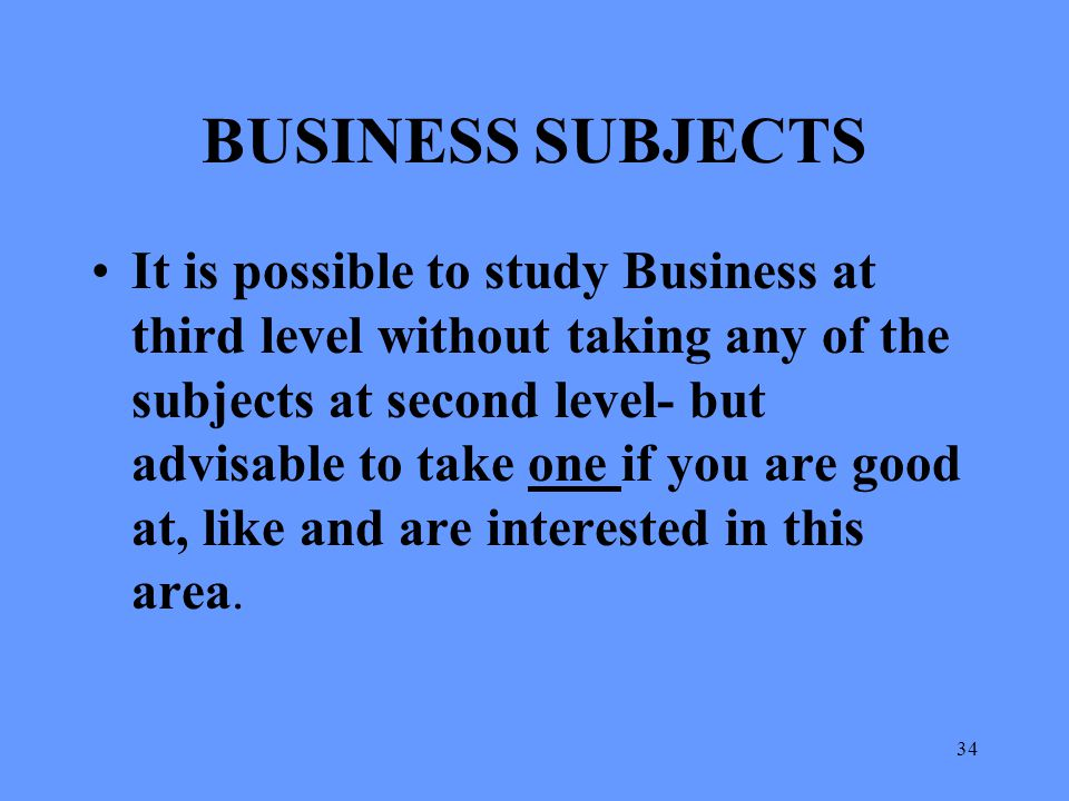 BUSINESS SUBJECTS