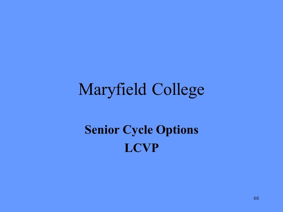 Senior Cycle Options LCVP