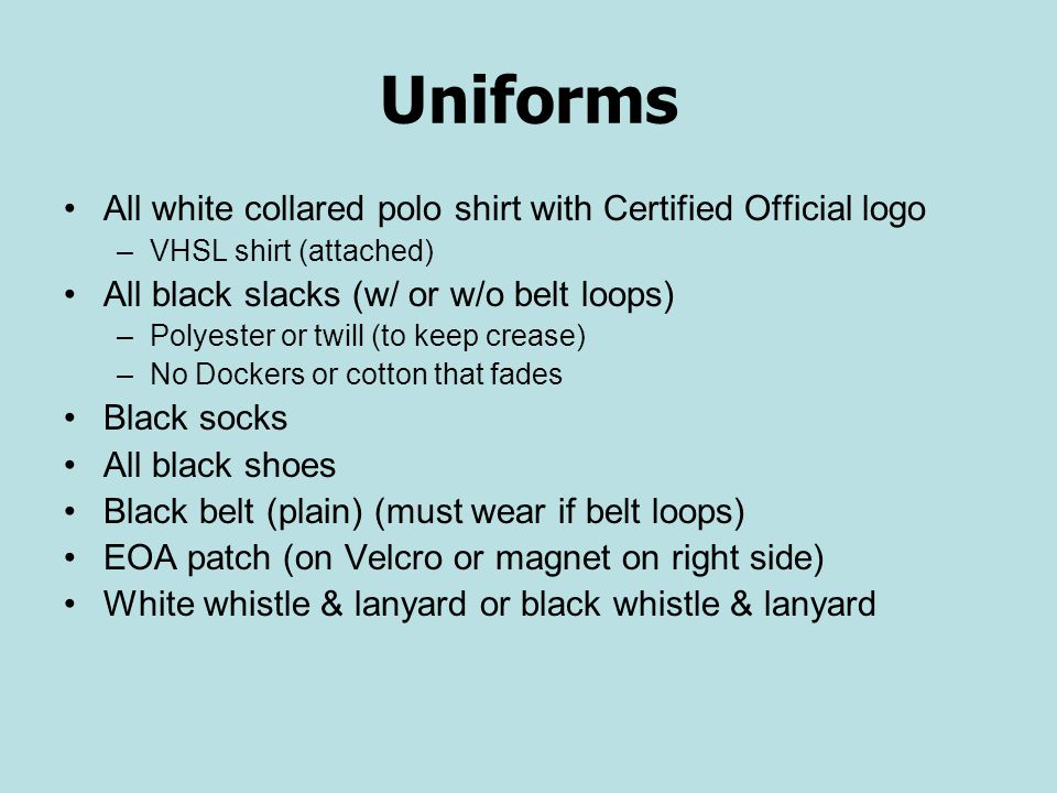 Uniforms All white collared polo shirt with Certified Official logo
