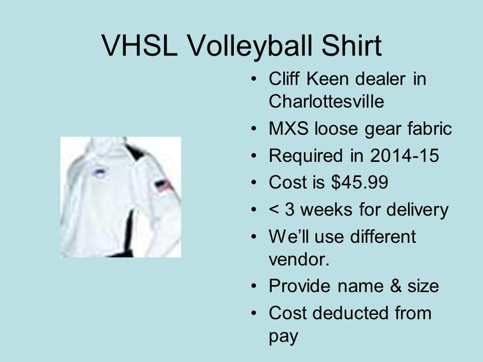 VHSL Volleyball Shirt Cliff Keen dealer in Charlottesville