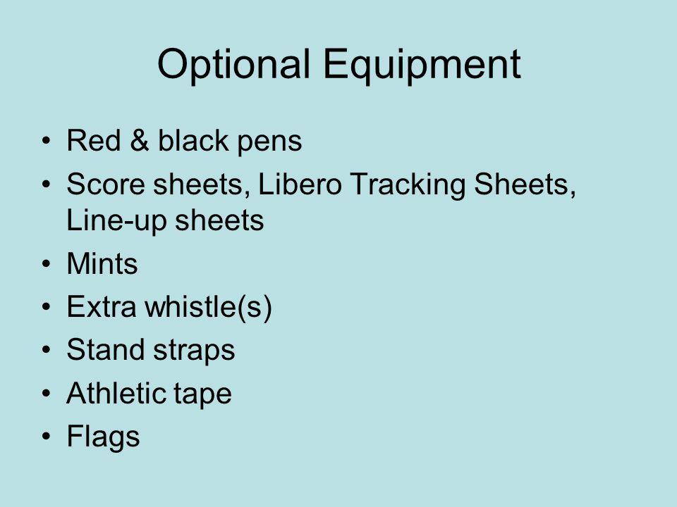 Optional Equipment Red & black pens