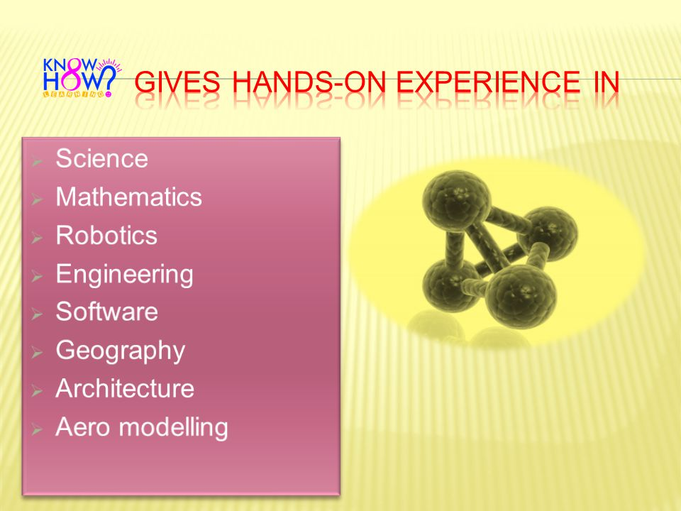 GIVES HANDS-ON EXPERIENCE IN