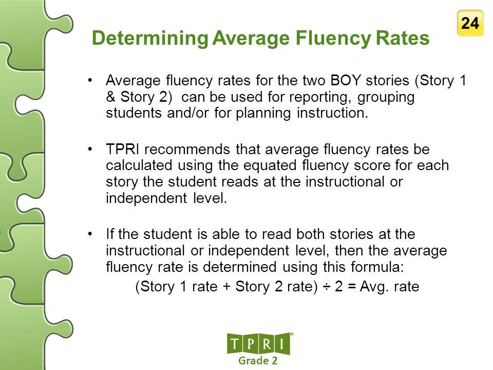 Determining Average Fluency Rates