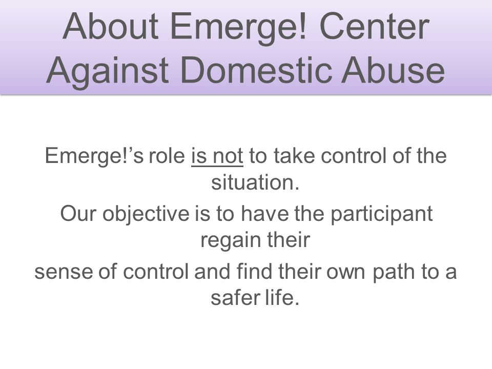Against Domestic Abuse