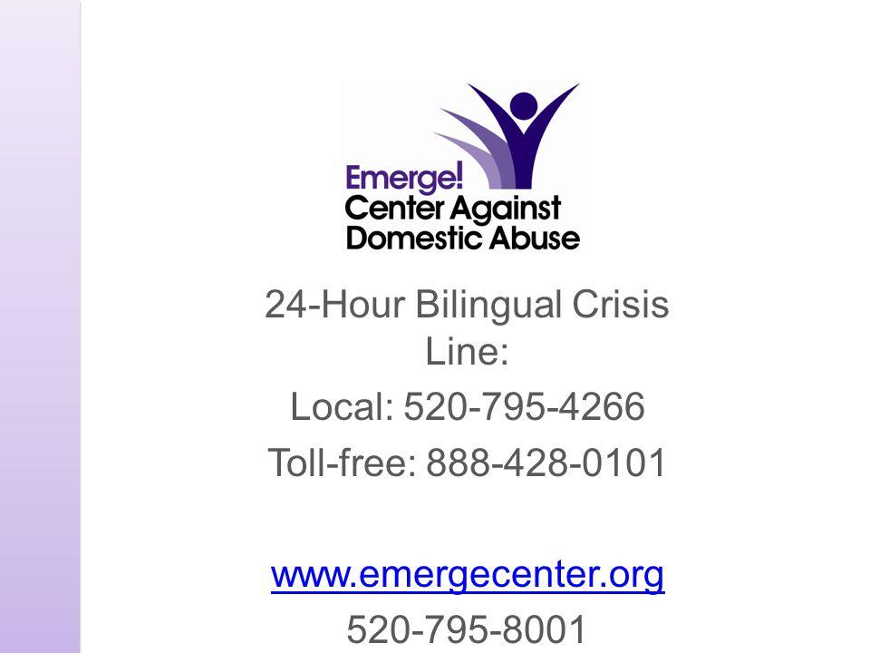 24-Hour Bilingual Crisis Line: