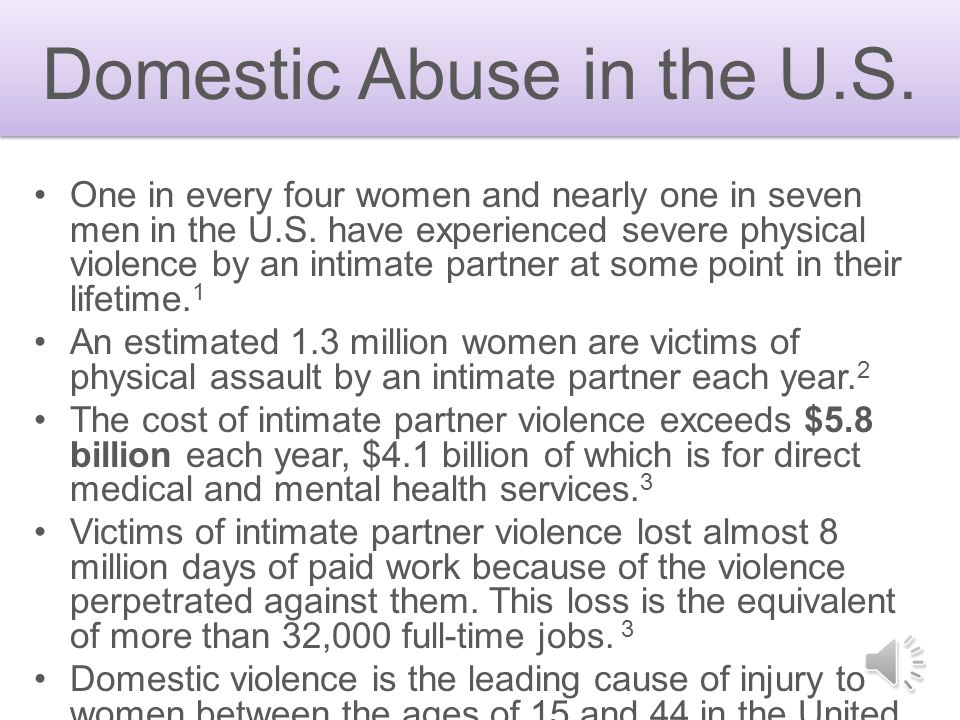 Domestic Abuse in the U.S.