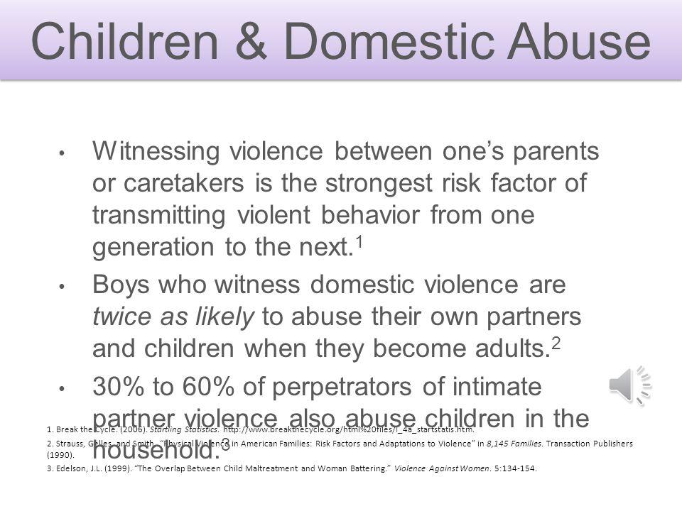 Children & Domestic Abuse