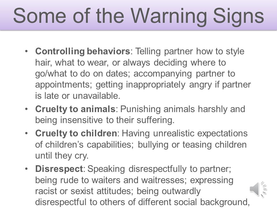Some of the Warning Signs