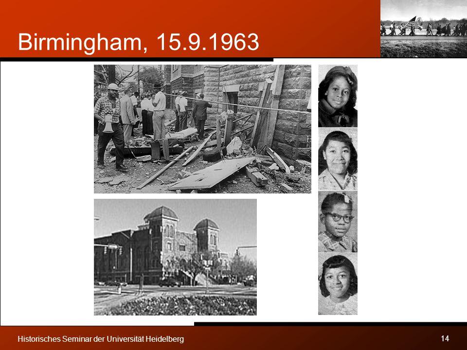Birmingham, 15.9.1963 Historisches Seminar der Universität Heidelberg