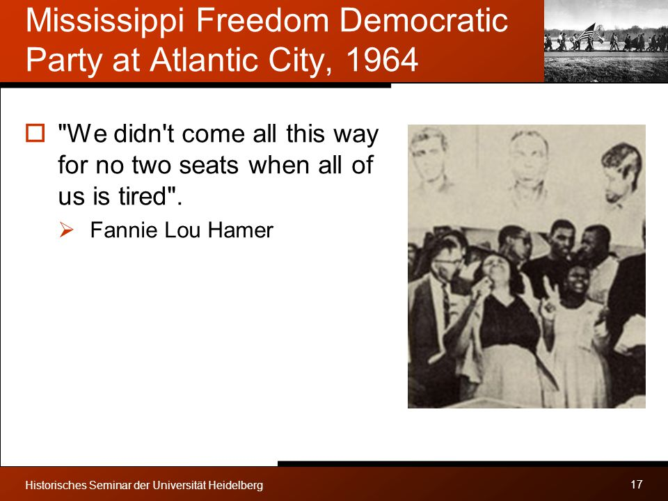 Mississippi Freedom Democratic Party at Atlantic City, 1964