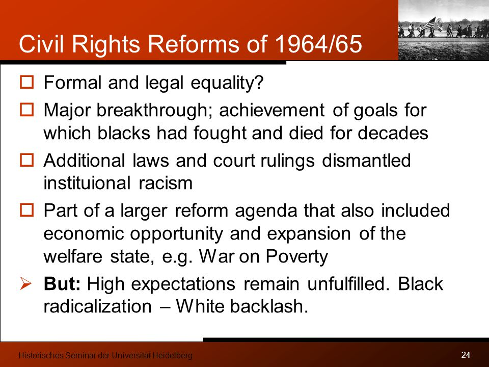 Civil Rights Reforms of 1964/65