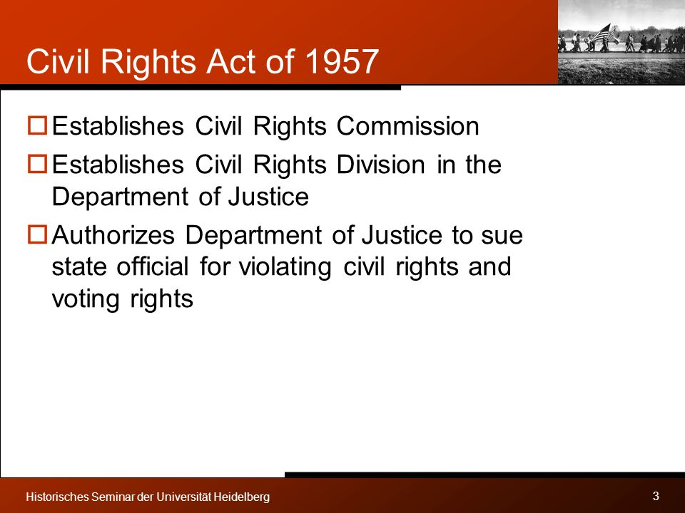 Civil Rights Act of 1957 Establishes Civil Rights Commission