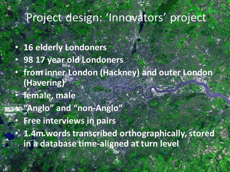 Project design: 'Innovators' project