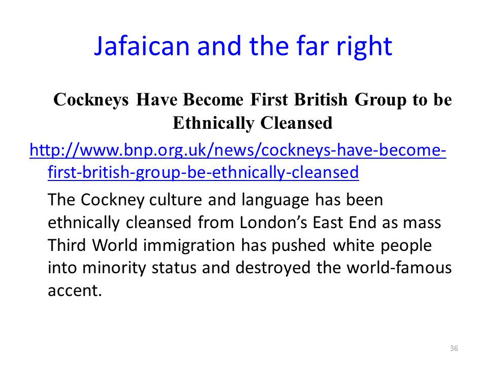 Jafaican and the far right