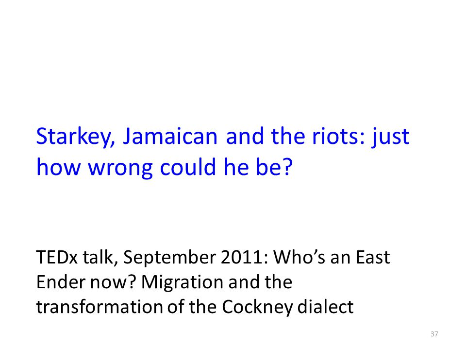Starkey, Jamaican and the riots: just how wrong could he be