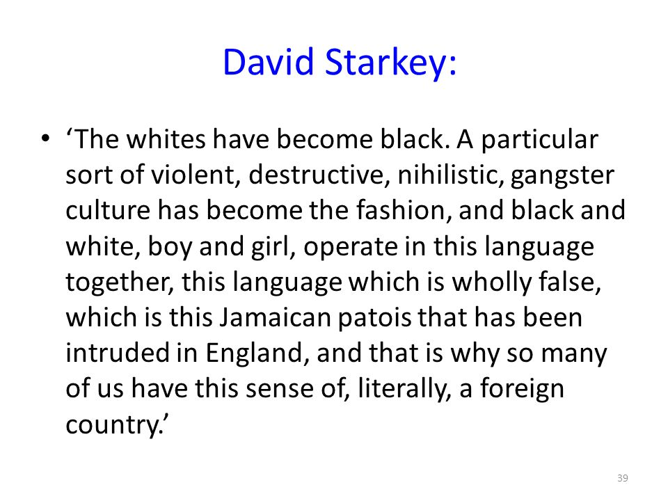 David Starkey: