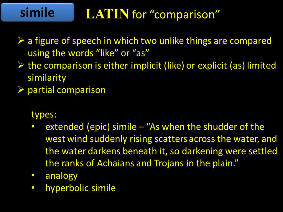 Latin for comparison
