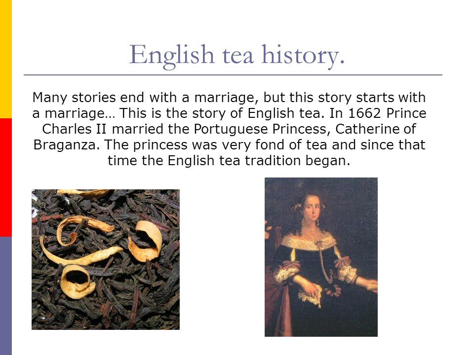 English tea history.