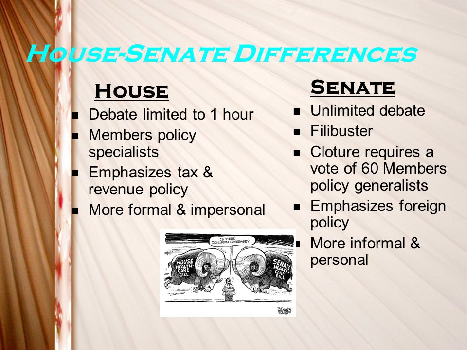 House-Senate Differences