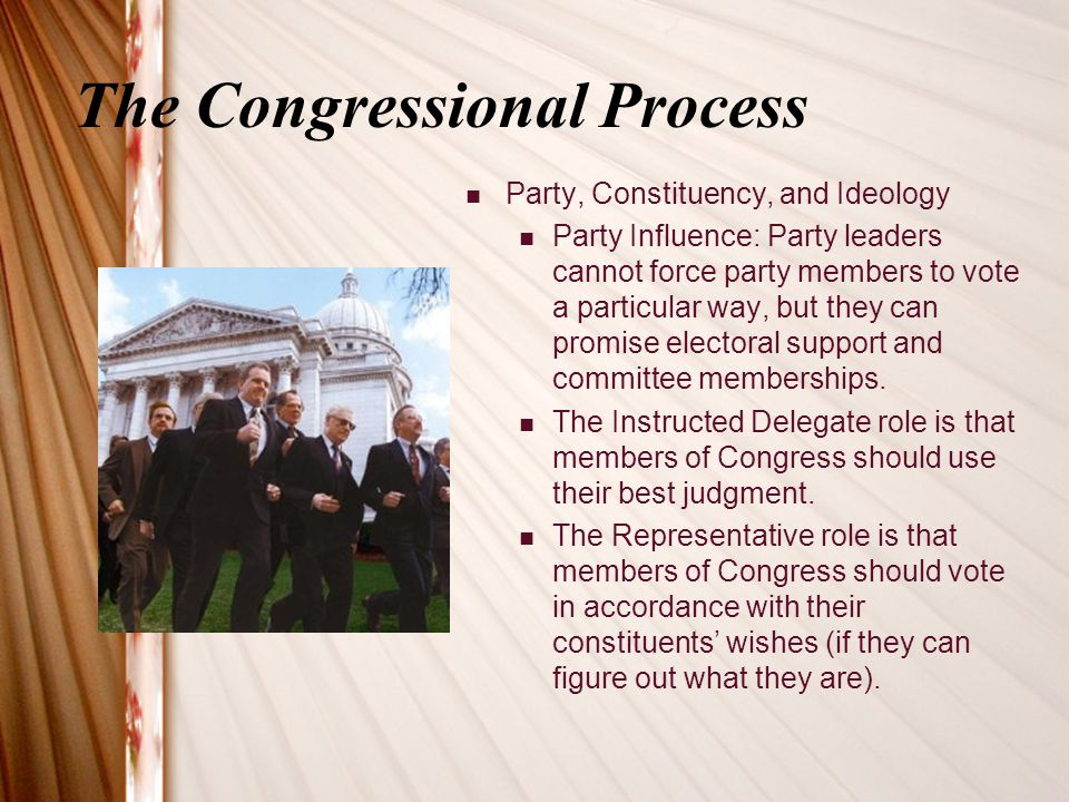 The Congressional Process
