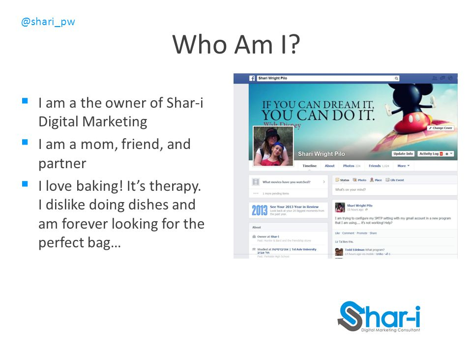 Who Am I I am a the owner of Shar-i Digital Marketing