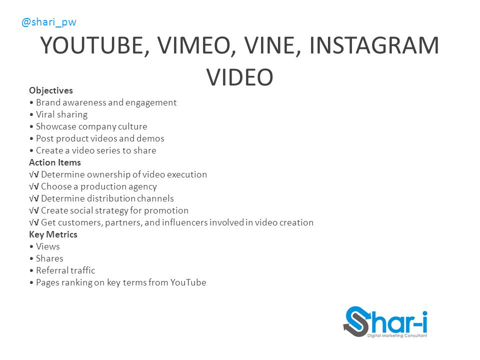 YOUTUBE, VIMEO, VINE, INSTAGRAM VIDEO