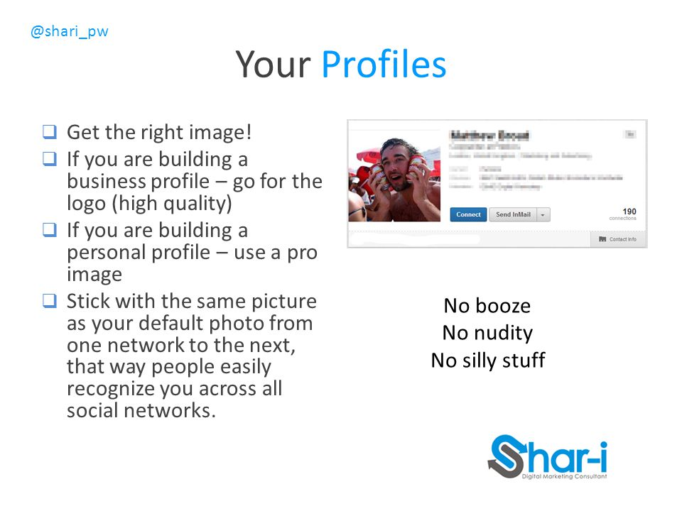 Your Profiles Get the right image!