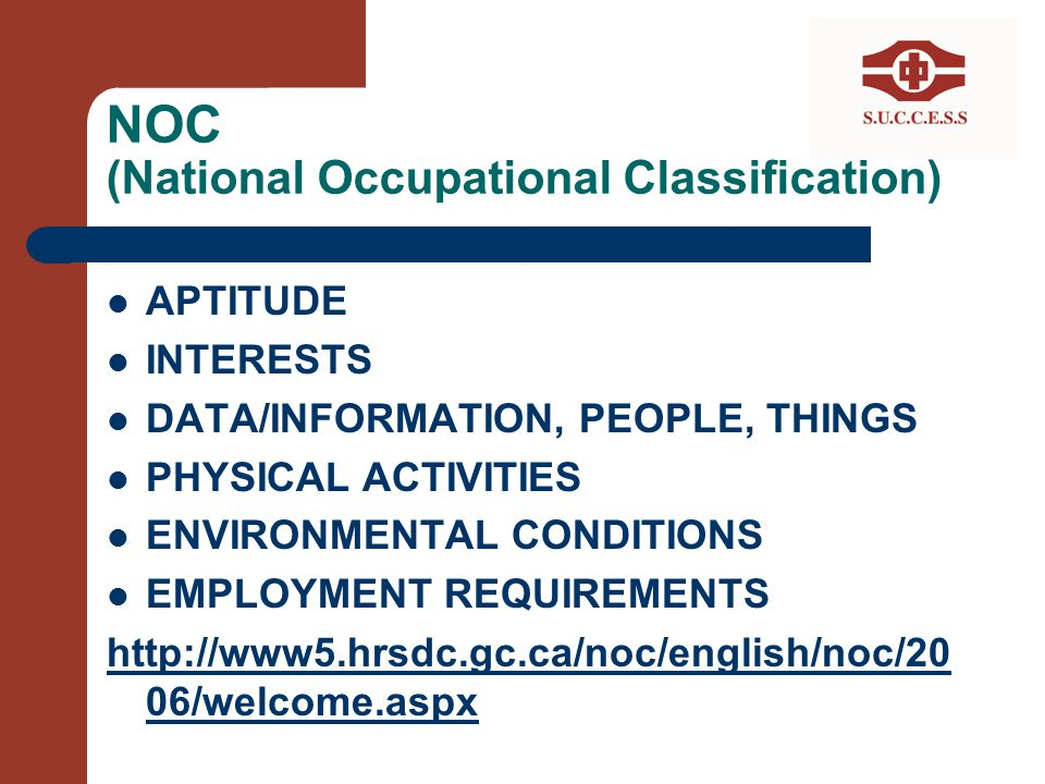 NOC (National Occupational Classification)