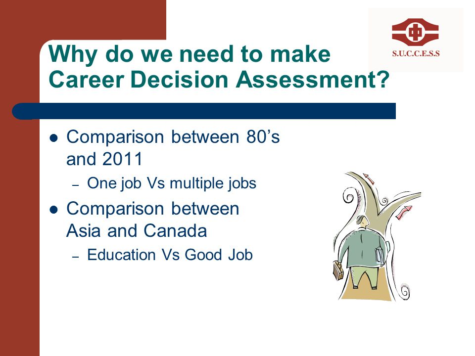 Why do we need to make Career Decision Assessment