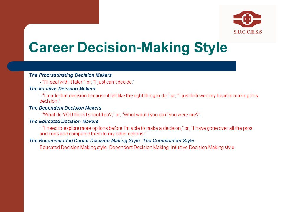 Career Decision-Making Style
