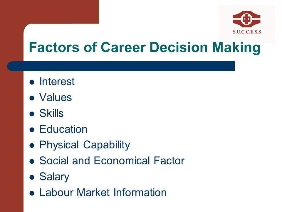 Factors of Career Decision Making