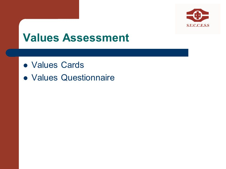 Values Assessment Values Cards Values Questionnaire